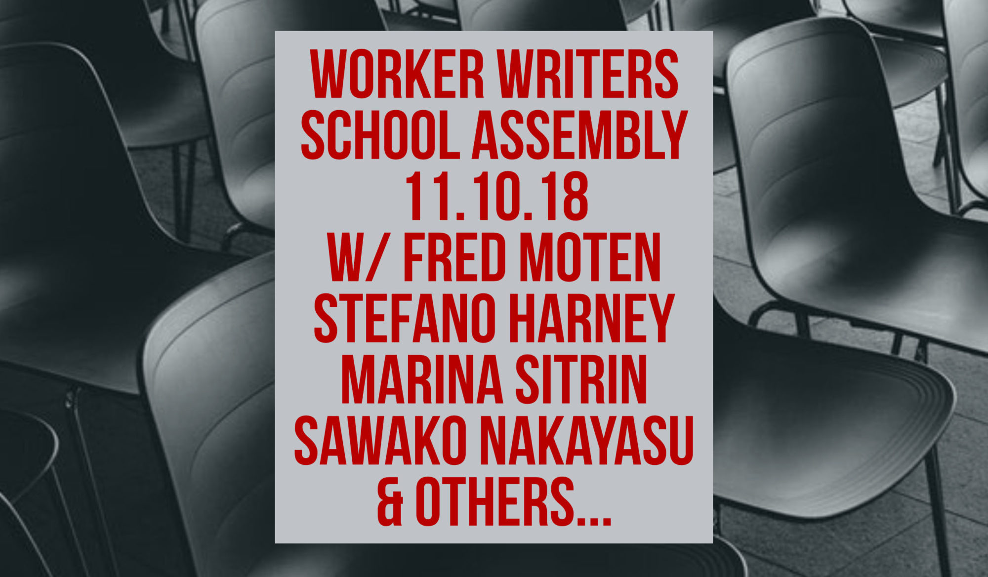 The People's Forum | Worker Writers Assembly: Fall 2018 | The